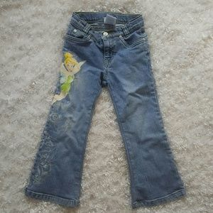 Disney size 4 little girls tinkerbell jeans